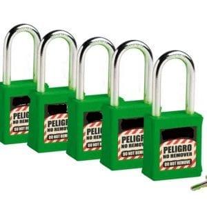 kit de candados de bloqueo,, se utiliza para bloquear dispositivos eléctricos y mecánicos