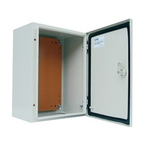 Gabinete metálico IP65, 1 puerta, 300x200x150mm