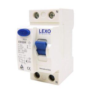 Interruptor diferencial 2x25A, 30mA