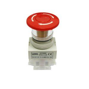 Pulsador hongo 22mm., rojo, 1NC