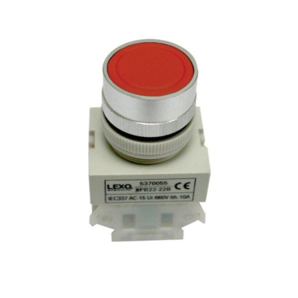 Pulsador 22mm., rojo, 1NC